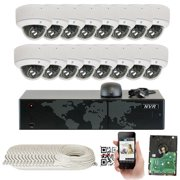 GW Security 16CH 4K NVR Network IP Security Camera System - 16 x HD 1920P 5.0 Megapixel 2.8~12mm Varifocal Zoom 80ft IR PoE Dome Camera + 4TB Hard Drive - Support ONVIF Quick QR Code Remote Access
