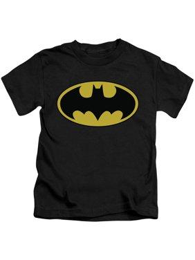 Batman - Classic Logo - Juvenile Short Sleeve Shirt - 5/6