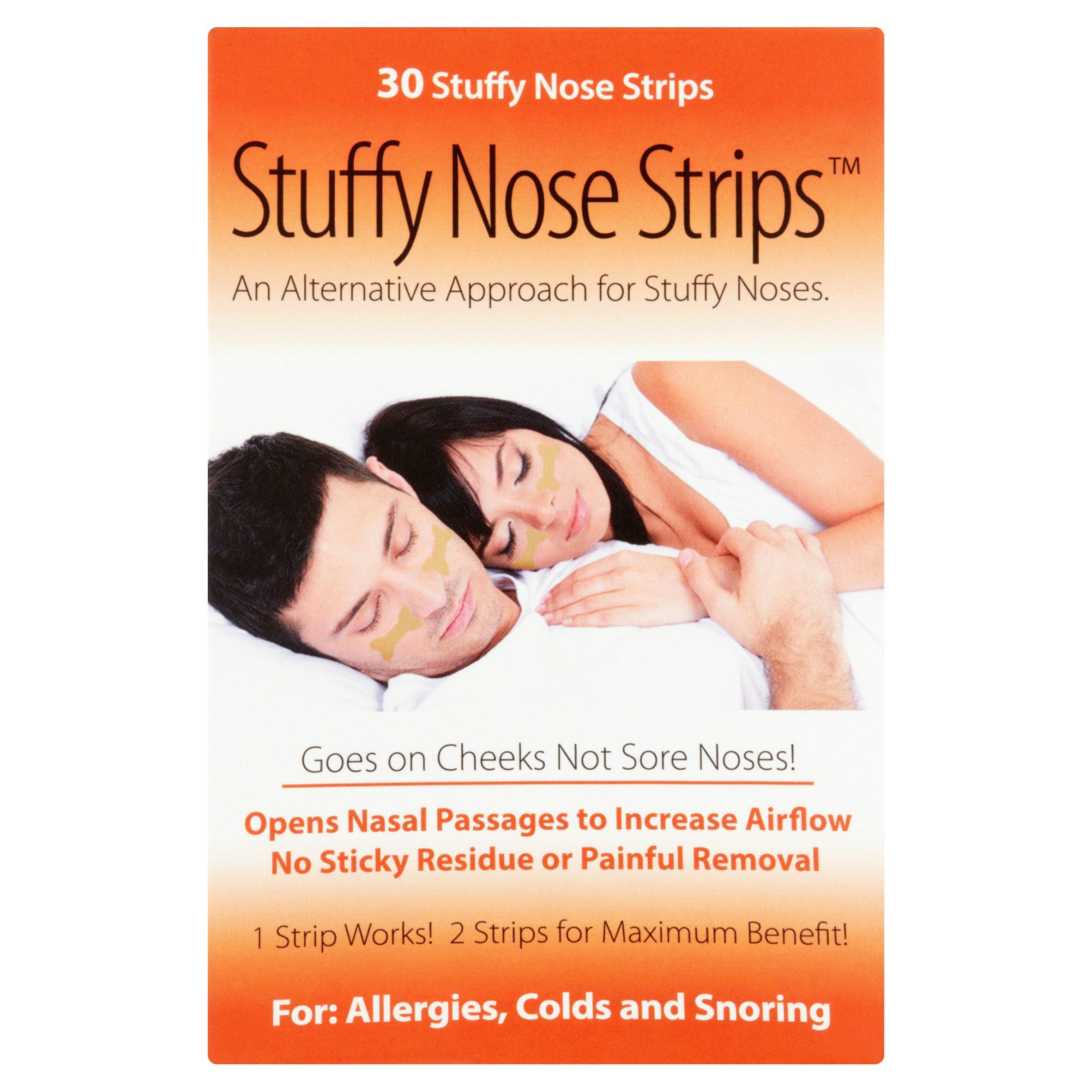 Stuffy Nose Strips Tan Strips, 30 count