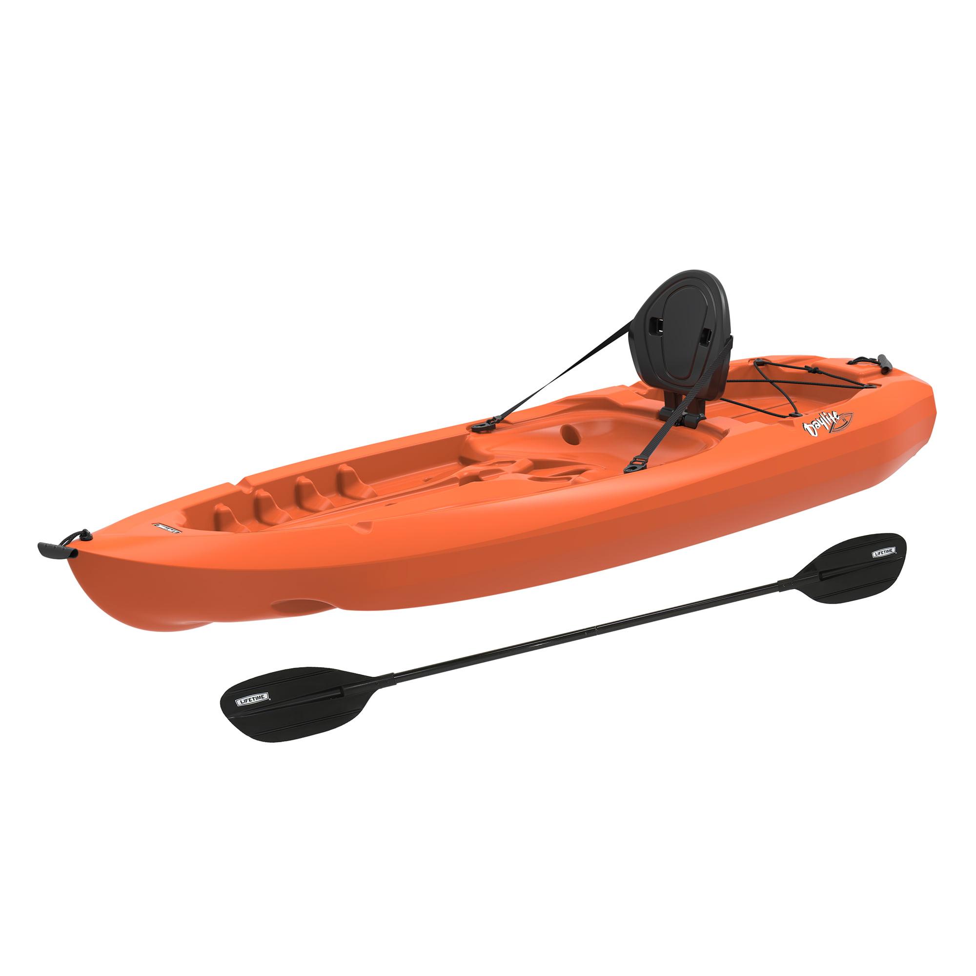 Lifetime 8' Daylite Kayak, Orange With Bonus Paddle, 90706