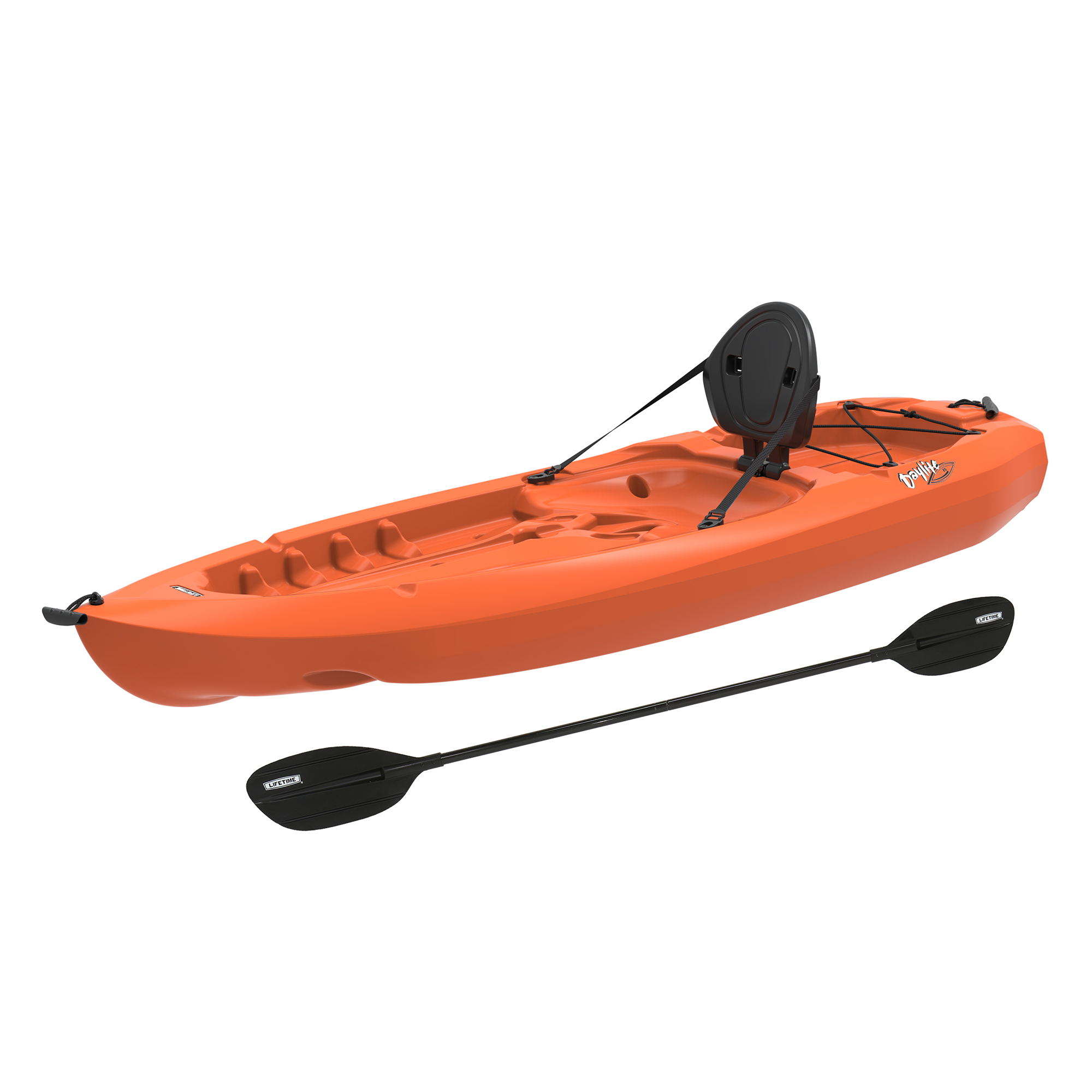 Lifetime 8' Daylite Kayak, Orange with Bonus Paddle, 90706