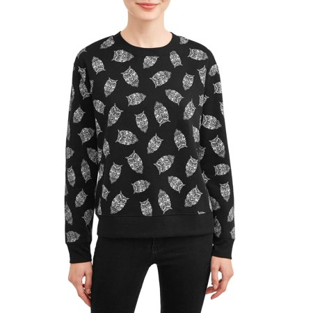 No Boundaries Juniors' Plush Teddy Crewneck Sweatshirt