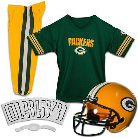 Franklin Sports NFL Green Bay Packers Youth Licensed Deluxe Uniform Set, Small - Packers Uniforms