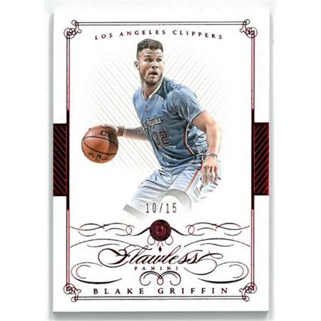 Athlon Sports CTBL-023488 Blake Griffin Los Angeles Clippers 2014-15 Panini Flawless Ruby Basketball Card No. 3, Limited Edition 10 of 15