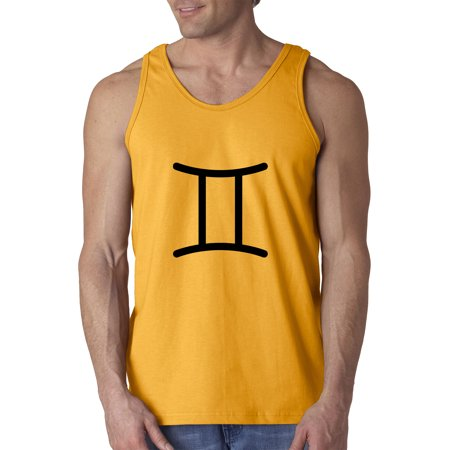 New Way 950 - Men's Tank-Top Gemini Symbol Zodiac Sign The Twins 3XL Gold