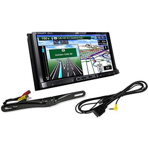 "JVC KW-NT810HDT 7"" Double DIN Car GPS Navigation DVD Receiver + JVC KS-U49"