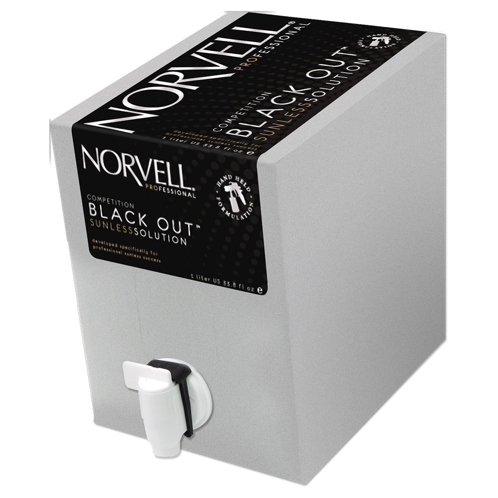 Norvell Competition BLACK OUT Sunless Solution Everfresh Box - Liter