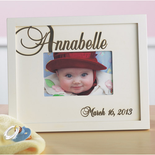 Personalized Script Baby Name Frame