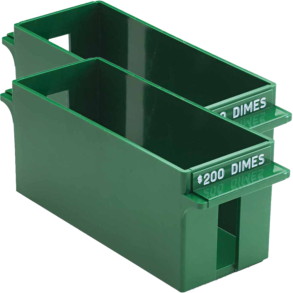 MMF, MMF212071002, Porta-Count Extra-cap. Dime Trays, 1 Each, Green