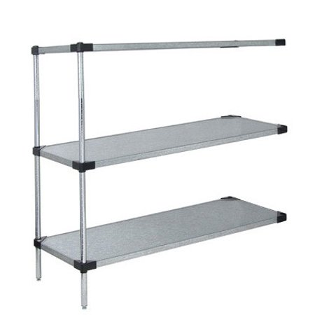 Amazing 18 Deep X 30 Wide X 63 High 3 Tier Solid Galvanized Steel Add On Shelving Unit Caraccident5 Cool Chair Designs And Ideas Caraccident5Info