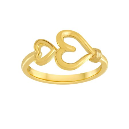 Knots of Love 14kt Yellow Gold over Sterling Silver Heart