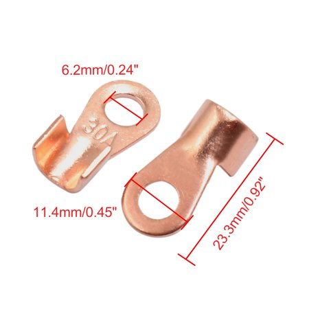 20pcs 30A Copper Ring Terminals Lug Non-Insulated Battery Cable Connector - image 1 of 2