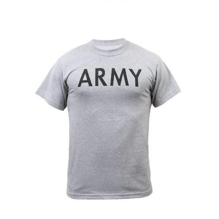 Wait Training T-shirt - Army Military gray Physical Training T-Shirt