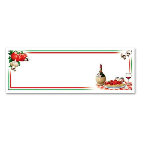 Italian Eats Plastic Banner - Italian Party Decor