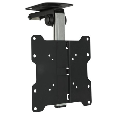 Mount-It! TV Ceiling Mount Kitchen Under Cabinet TV Bracket Folding, Retractable, 90 Degree Tilt, Fold Down, Swivel for 17 to 37 inch LCD