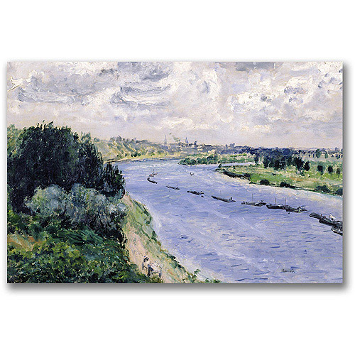 "Trademark Fine Art ""Barges On The Seine"" Canvas Wall Art by Pierre Renoir"
