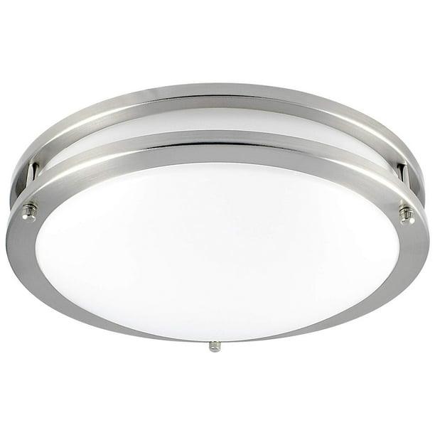 Luxrite 12 Dimmable Led Flush Mount Ceiling Light 18w 3000k Soft White 1380 Lumens Walmart Com Walmart Com