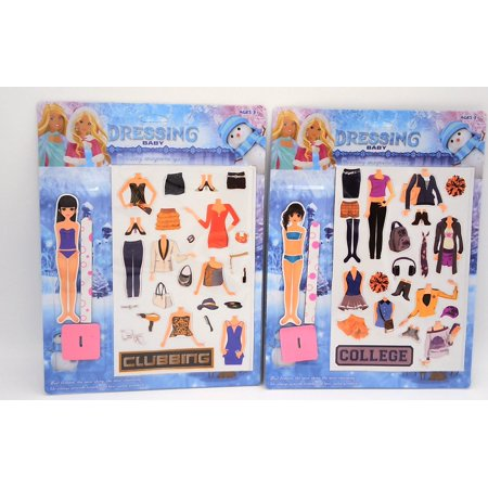 College Girl Night Out On The Town Magnetic Dress Up Paper Doll (styles Will (Doll Paper)