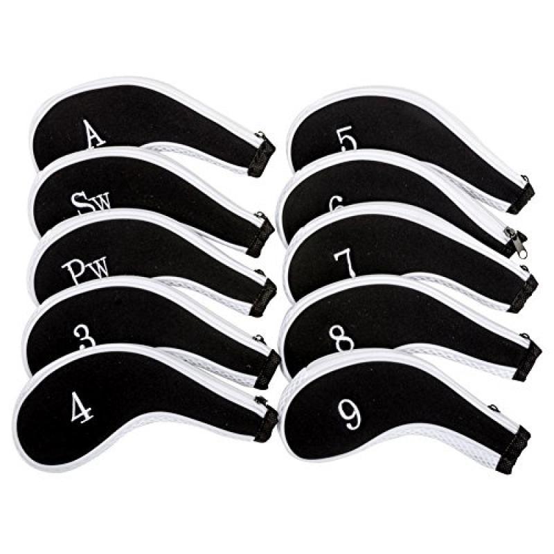 HIFROM(TM) 10pcs Golf Long Neck Iron Zippered Neoprene He...