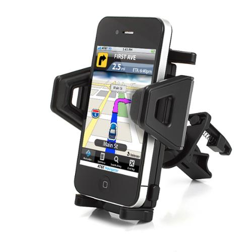USA Gear Universal Air Vent Car Mount Holder with 360 Degree Rotating & Adjustable Cradle for Smartphones / GPS Devices - Perfect for Uber , Lyft  , Taxi Drivers & More *Includes Cleaning Cloth*