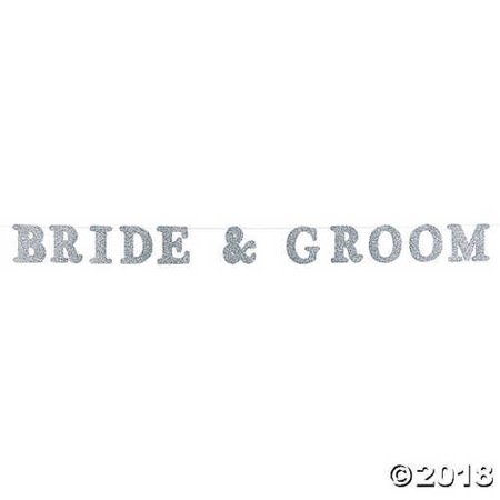 Bride & Groom Photo Prop Garland](Halloween Bride And Groom Props)