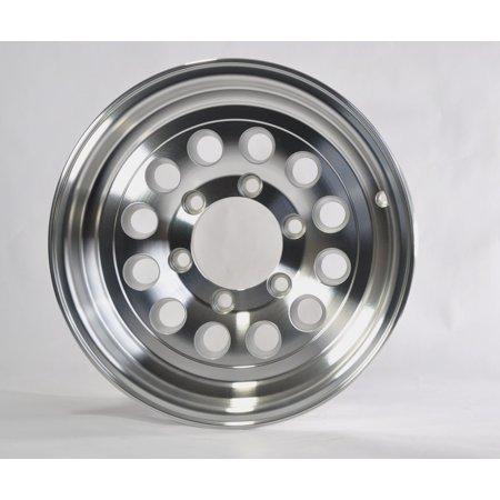 Trailer Rim Wheel 15 x 6 in. 15x6 6 Lug Hole Bolt Wheel Aluminum Modular - Aluminum Modular Wheel