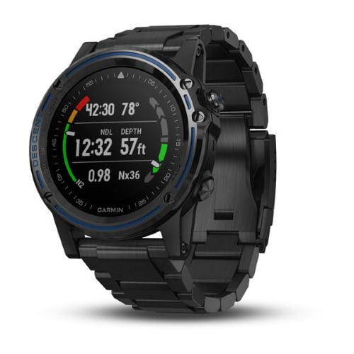 """Garmin Descent Mk1 Gray with DLC titanium band 010-01760-01 GPS Watch"" by Garmin"