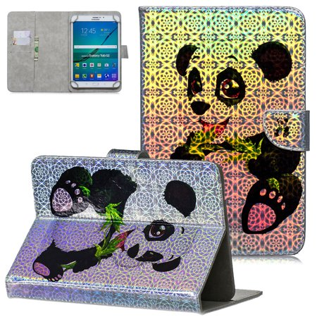 Universal 7 inch Tablet Case, Allytech Colorful Painting Wallet Stand Case Cover, Fit All 6.5-7.5 inch Tablet (Galaxy Tab A 7.0/ Tab 3 Lite 7.0/ Tab E 7.0/ Tab J 7.0/ Fire 7 2015 2017), Panda ()