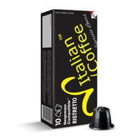 Italian Expresso Nespresso Compatible Coffee Capsules, Ristretto, 100 Count