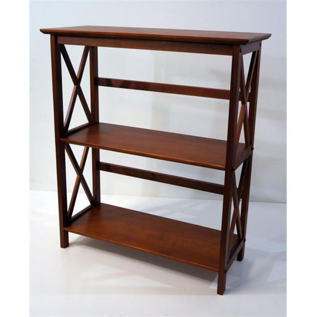 Ltd  Montego 3 tier Bookcase  Walnut - image 1 of 1