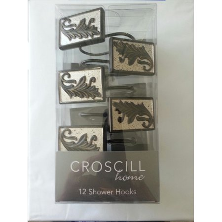 Argosy Shower Hooks, Champagne, Material: Agglomerated Resin By Croscill
