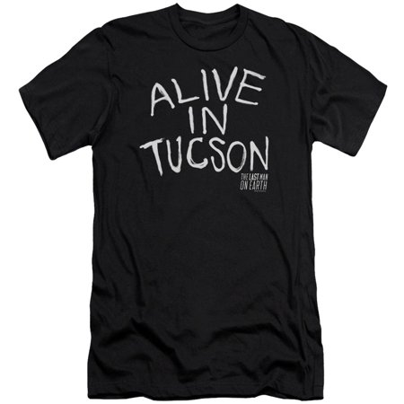 Last Man On Earth Men's  Alive In Tucson Slim Fit T-shirt Black