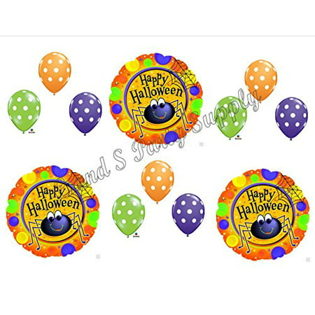 CUTE HALLOWEEN SPIDER Balloons Decoration Supplies Party Trick or Treat dANCE](Cute Easy Halloween Treats Make)