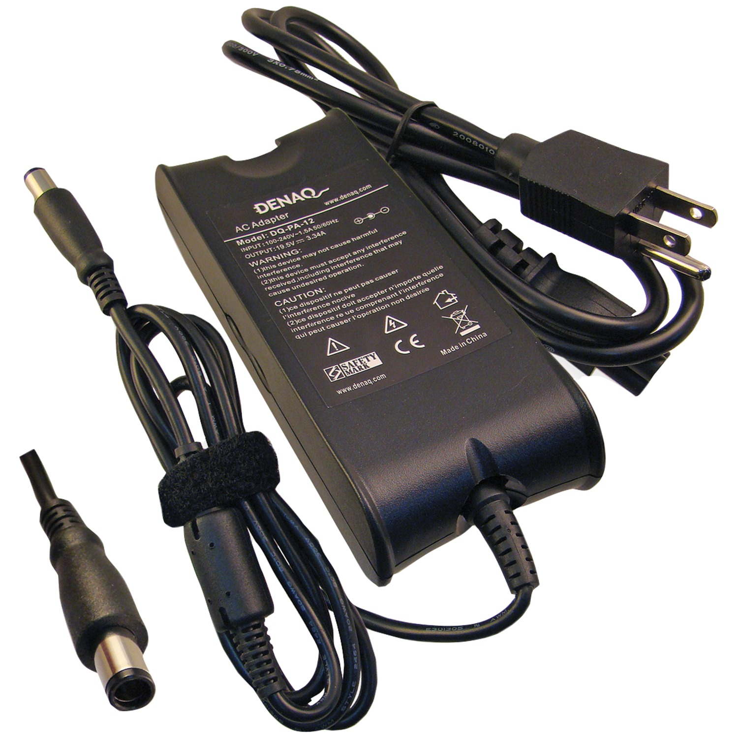 Denaq DQ-PA-12-7450 19.5-Volt DQ-PA-12-7450 Replacement AC Adapter for Dell Laptops