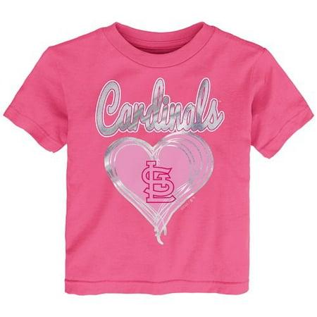 St. Louis Cardinals Girls Preschool Unfoiled Love T-Shirt - Pink (Girls Louis Vuitton)