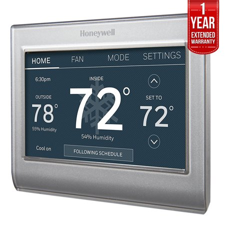 Honeywell Wi-Fi Smart Color Programmable Thermostat (NP-M403H) with 1 Year Extended Warranty