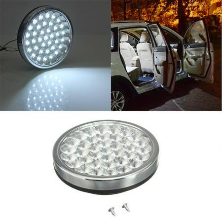 12v 37 led kundenspezifische beleuchtung auto van innenraum dome dachleuchte decke bright white. Black Bedroom Furniture Sets. Home Design Ideas