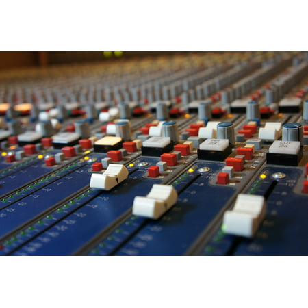LAMINATED POSTER Fader Analog Console Desk Sound Studo Mixing Poster Print 24 x