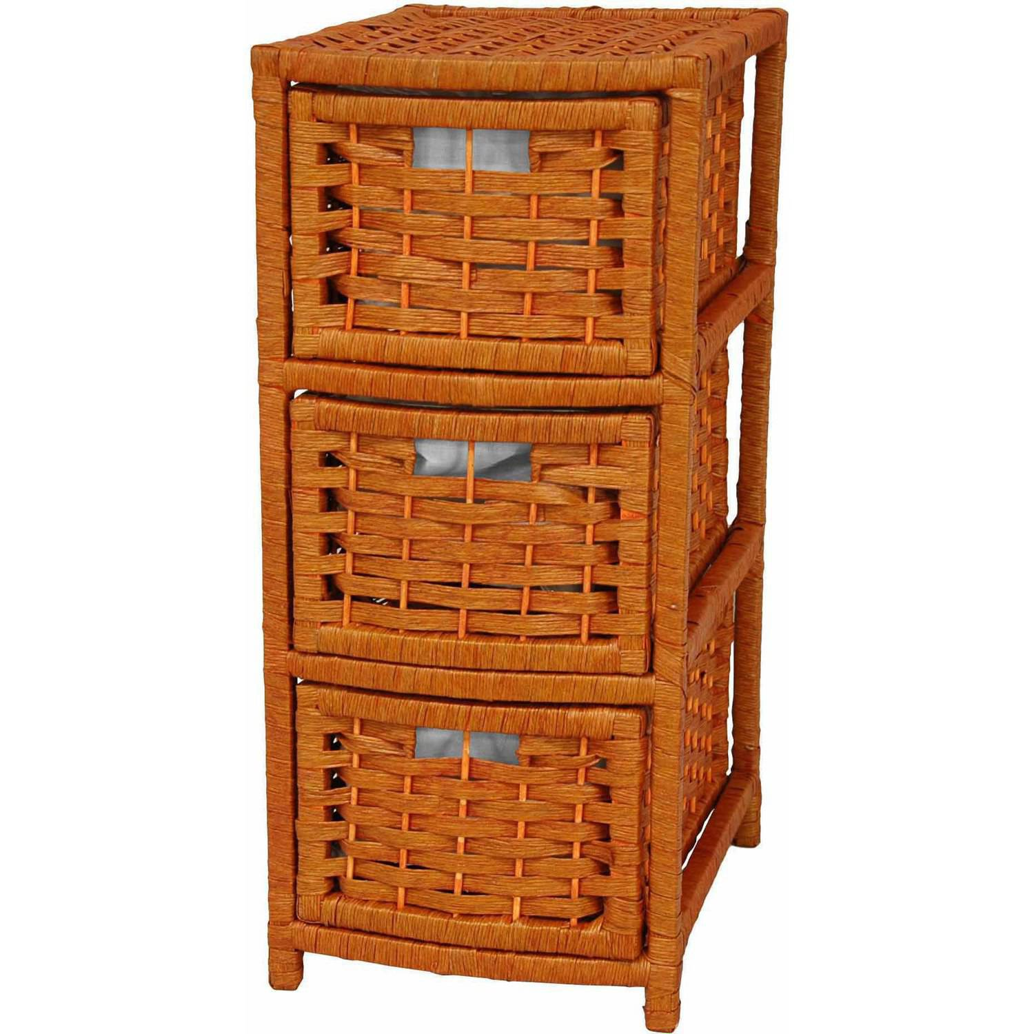 Natural Fiber Occasional Chest, 3 Drawer