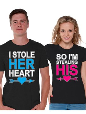 7b427c1da8 Product Image Awkward Styles I Stole Her Heart So I'm Stealing His T shirt  for Couples