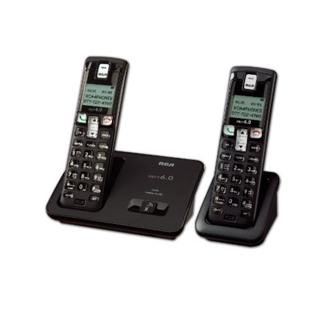 Rca Digital Telephone - RCA 2101-2BKGA DECT 6.0 Digital Cordless Phone