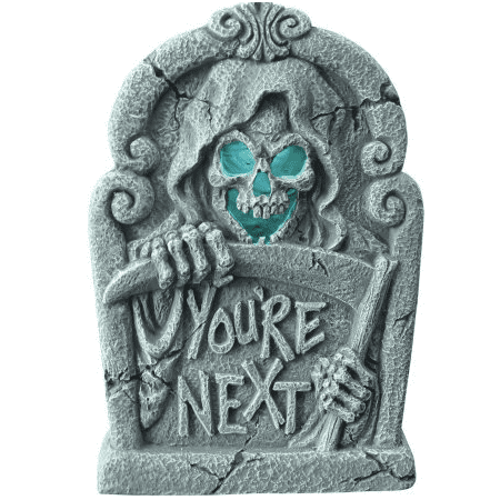 Light Up Skeleton Tombstone Halloween Decoration