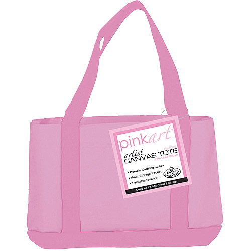 "Royal Brush Pink Art Artist Canvas Tote, 17"" x 12"""