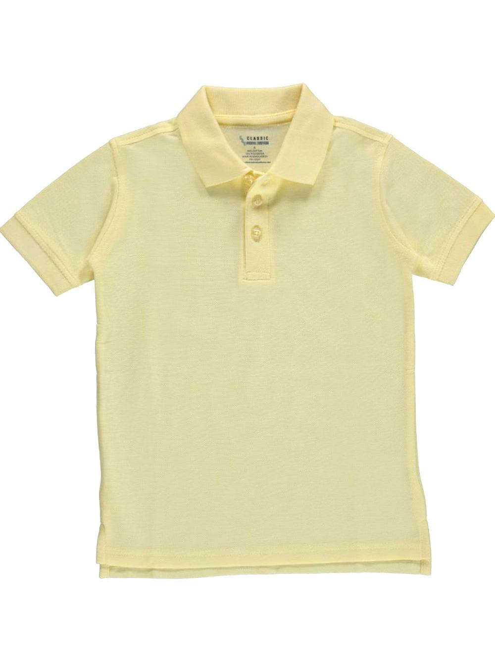 Classic School Uniform Big Boys' Pique Polo (Sizes 8 - 20)