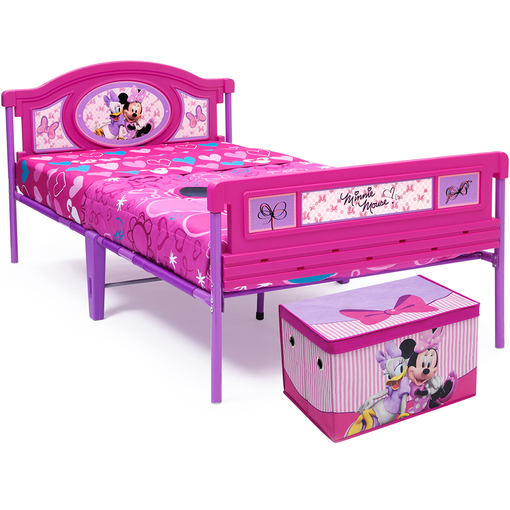 Delta Children Twin Bed with BONUS Fabric Toy Box Value Bundle