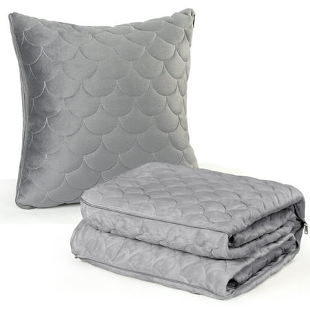Travel Blanket and Pillow Premium Soft 2 in 1 Blanket with Pillowcase