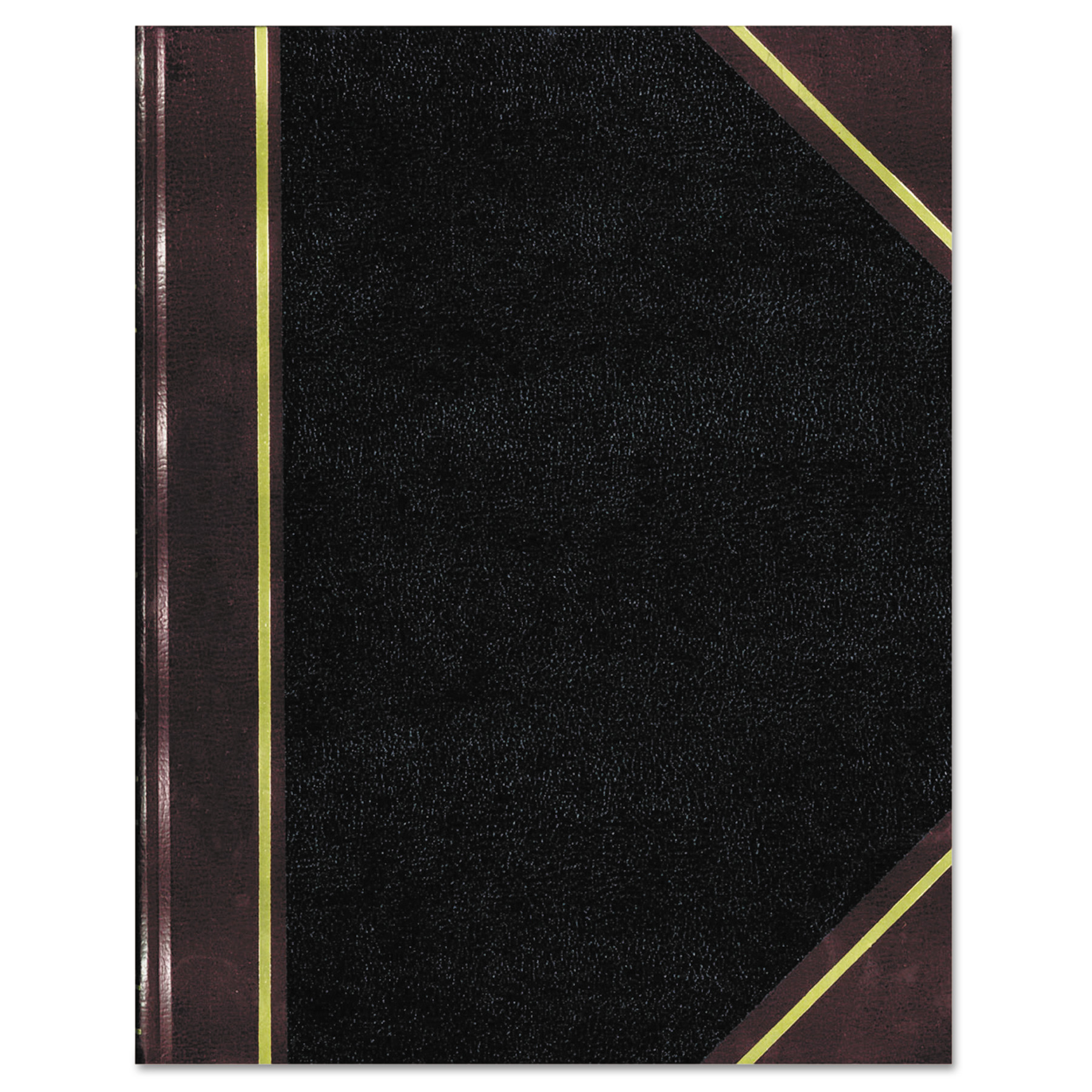 National Texthide Notebook, Black/Burgundy, 500 Pages, 14 1/4 x 8 3/4 -RED57151