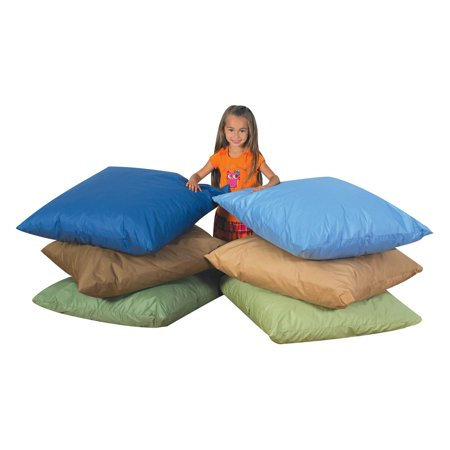 Childrens Factory Kids Floor Pillows - Set of 3 - Walmart.com