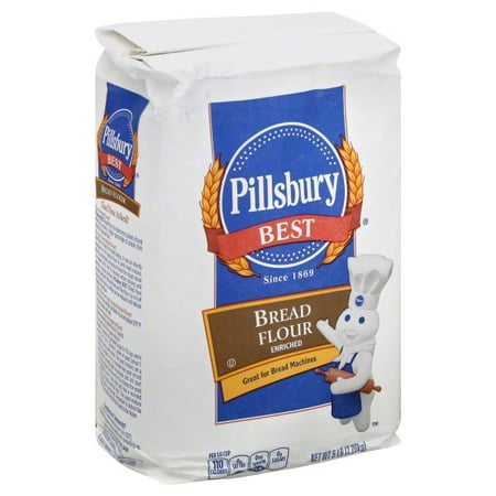 (3 Pack) Pillsbury Best Bread Flour, 5-Pound