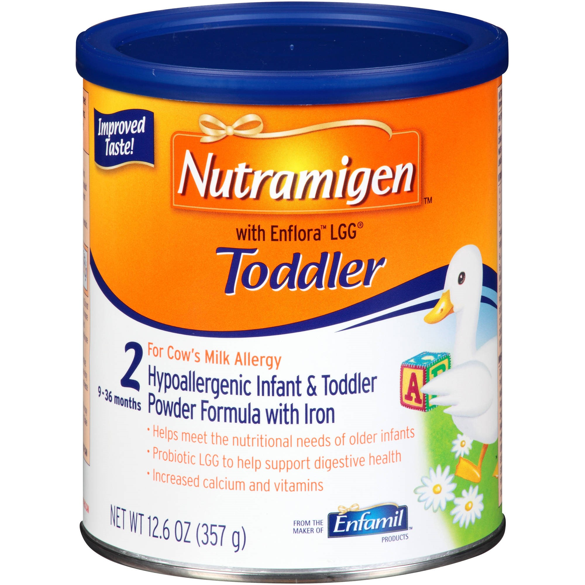 Nutramigen with Enflora LGG Hypoallergenic Infant & Toddler Formula Powder 12.6 oz. Canister